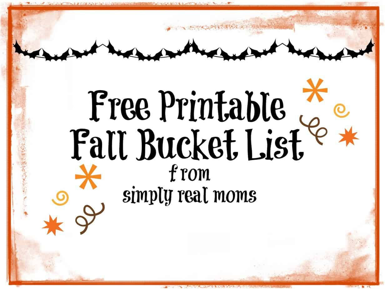Fall Bucket List: Free Printable!  2