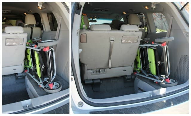 Joovy in Minivan Trunk