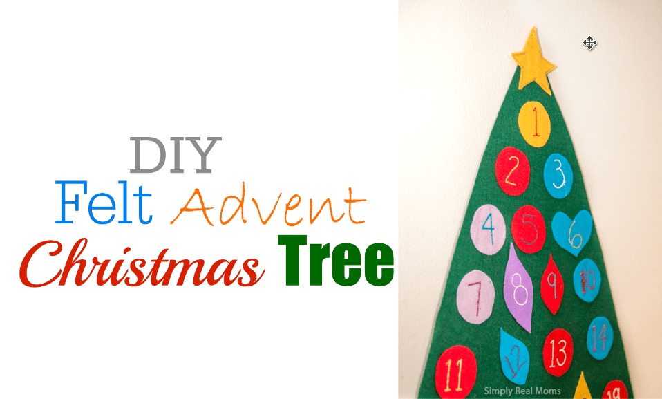 DIY Felt Advent Christmas Tree