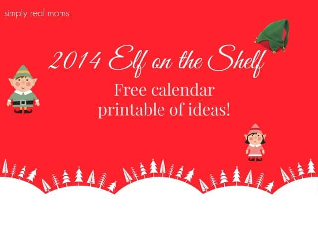 2014 Elf on the Shelf free calendar printable of ideas