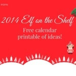 2014 Elf on the Shelf Free Printable
