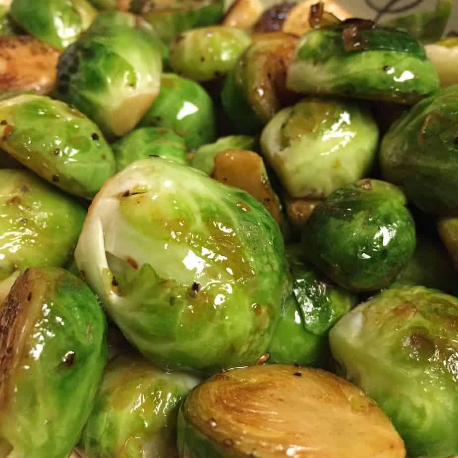 Sauteed Brussels Sprouts with Olive Oil and Lemon Zest 1