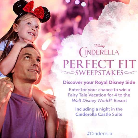 Disney's CINDERELLA Perfect Fit Sweepstakes