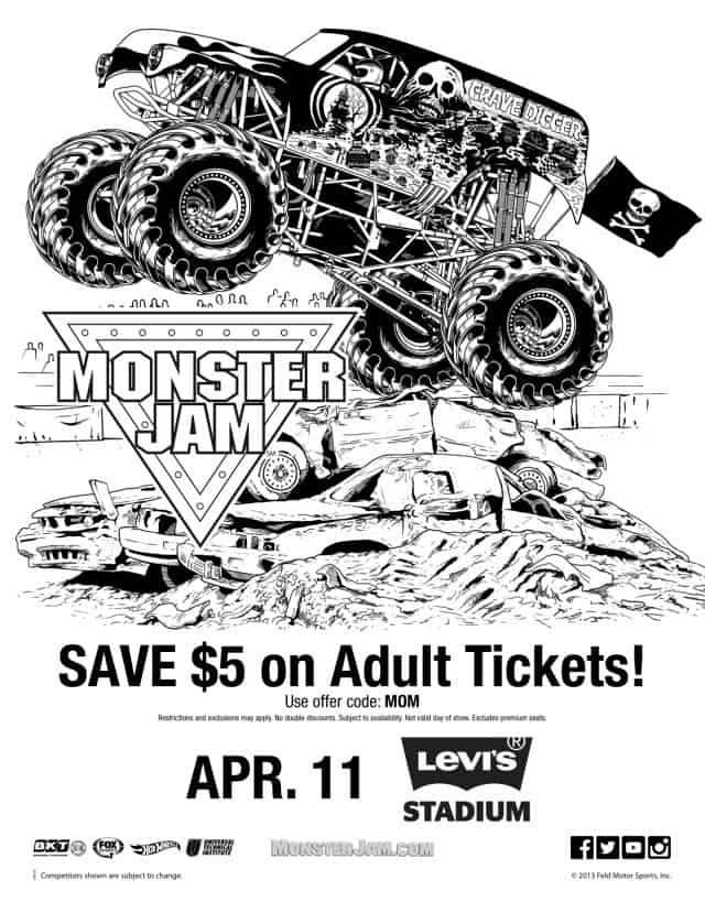 Monster truck grave digger coloring pages ~ Monster Jam 2015 Is Coming - Simply Real Moms