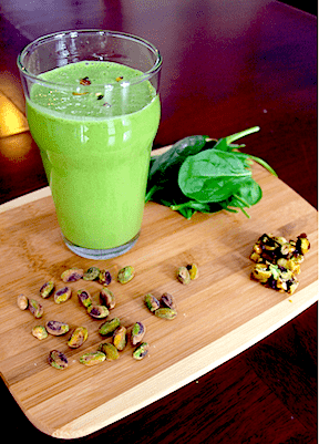 Green Pistachio Smoothie- Perfect to Celebrate St. Patrick's Day!