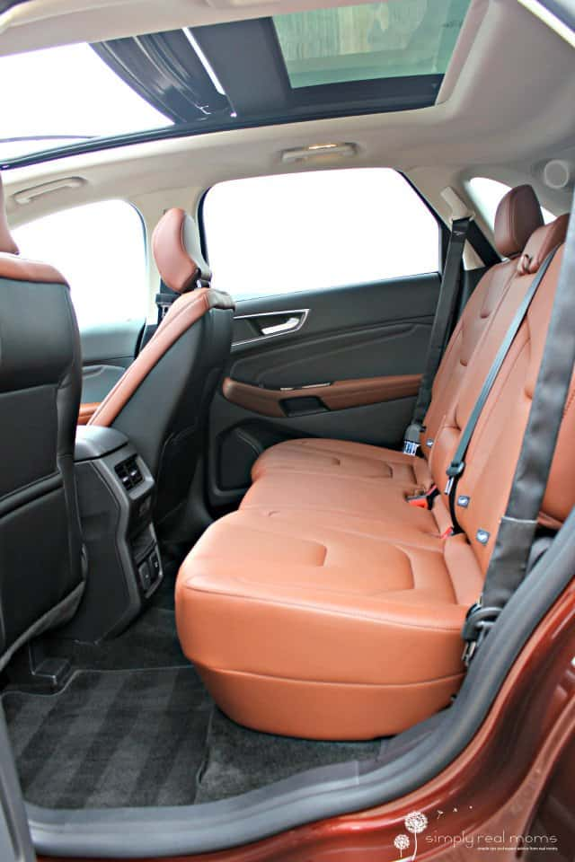 Rear seats, Ford Edge
