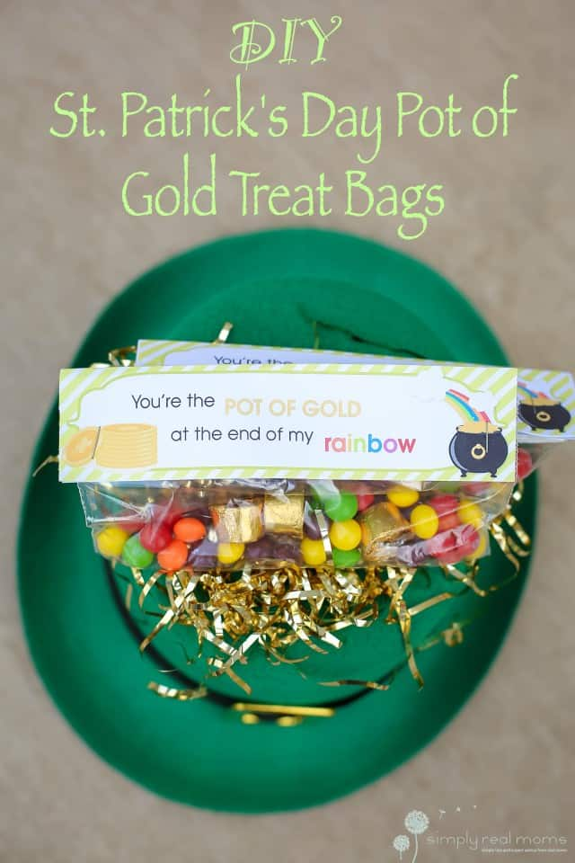 DIY St. Patrick's Day Pot of Gold Treat Bags - Simply Real ...