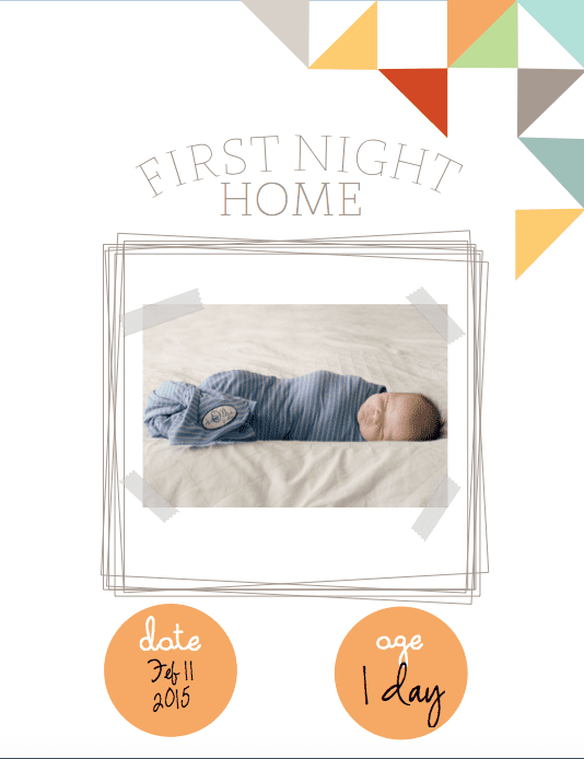 Printable Baby Book Template Pages Zrom
