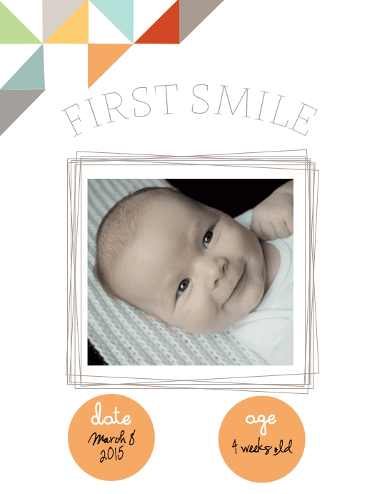 Free Printable Baby Book First Smile