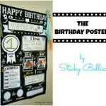 The Birthday Poster by Sticky Bellies