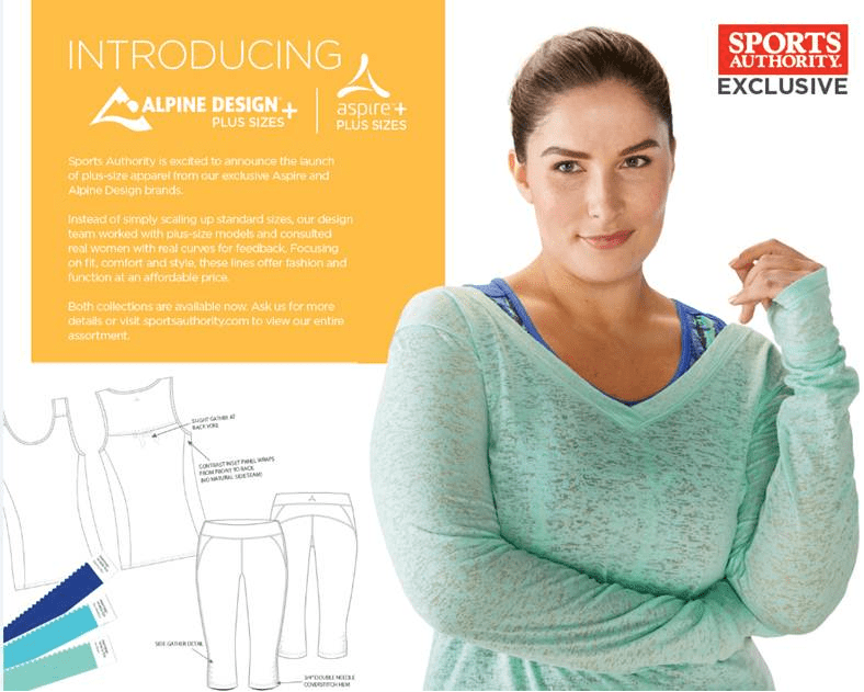 Sports Authority Launches New Plus-Size Active Apparel For Women 3