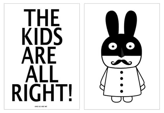 1_miniwilla_posters-_black_white_monochrome_rabbit_little_gatherer1
