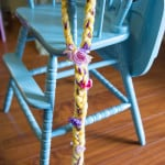 DIY Rapunzel Yarn Braids