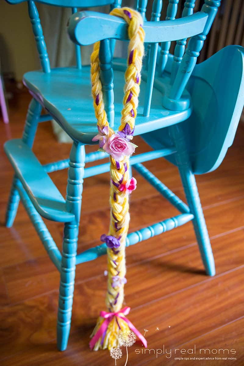 DIY Rapunzel Yarn Braids 6