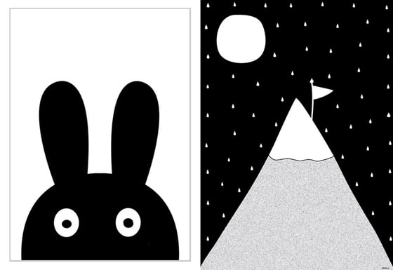 5_miniwilla_posters-_black_white_monochrome_rabbit_little_gatherer2