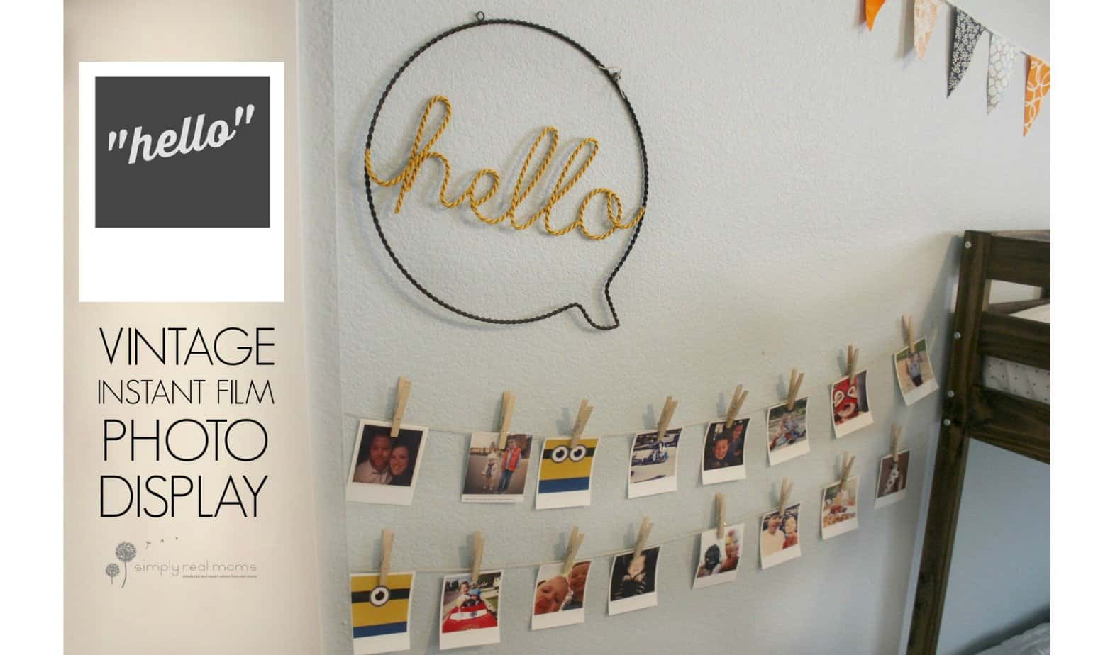 "Simply Made: ""Hello"" Vintage Instant Photo Display 2"