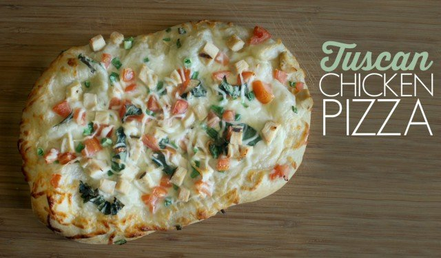 Tuscan Chicken Pizza Feat