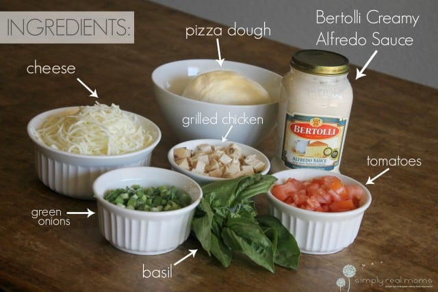 Tuscan Chicken Pizza Ingredients