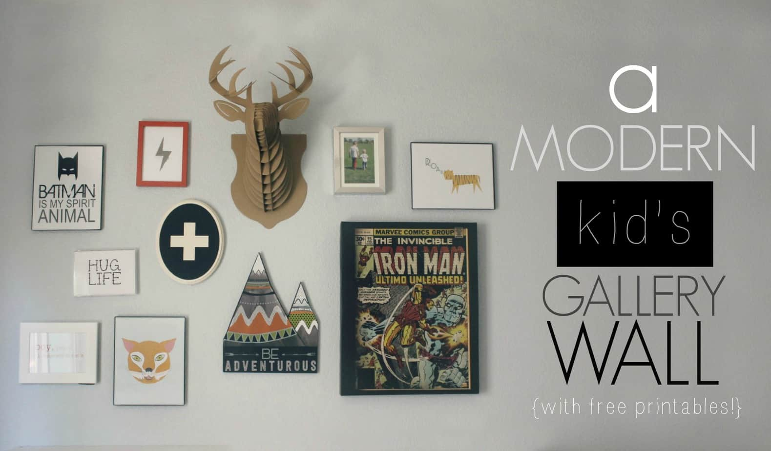 A Modern Kid's Gallery Wall (With Free Printables) 4