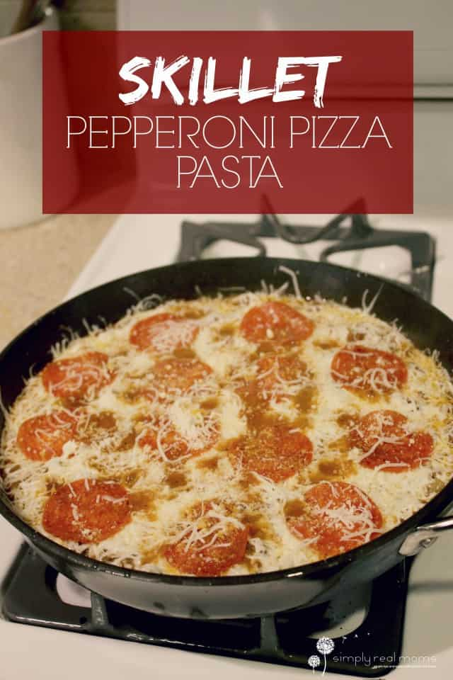 Easy Skillet Pepperoni Pizza Pasta