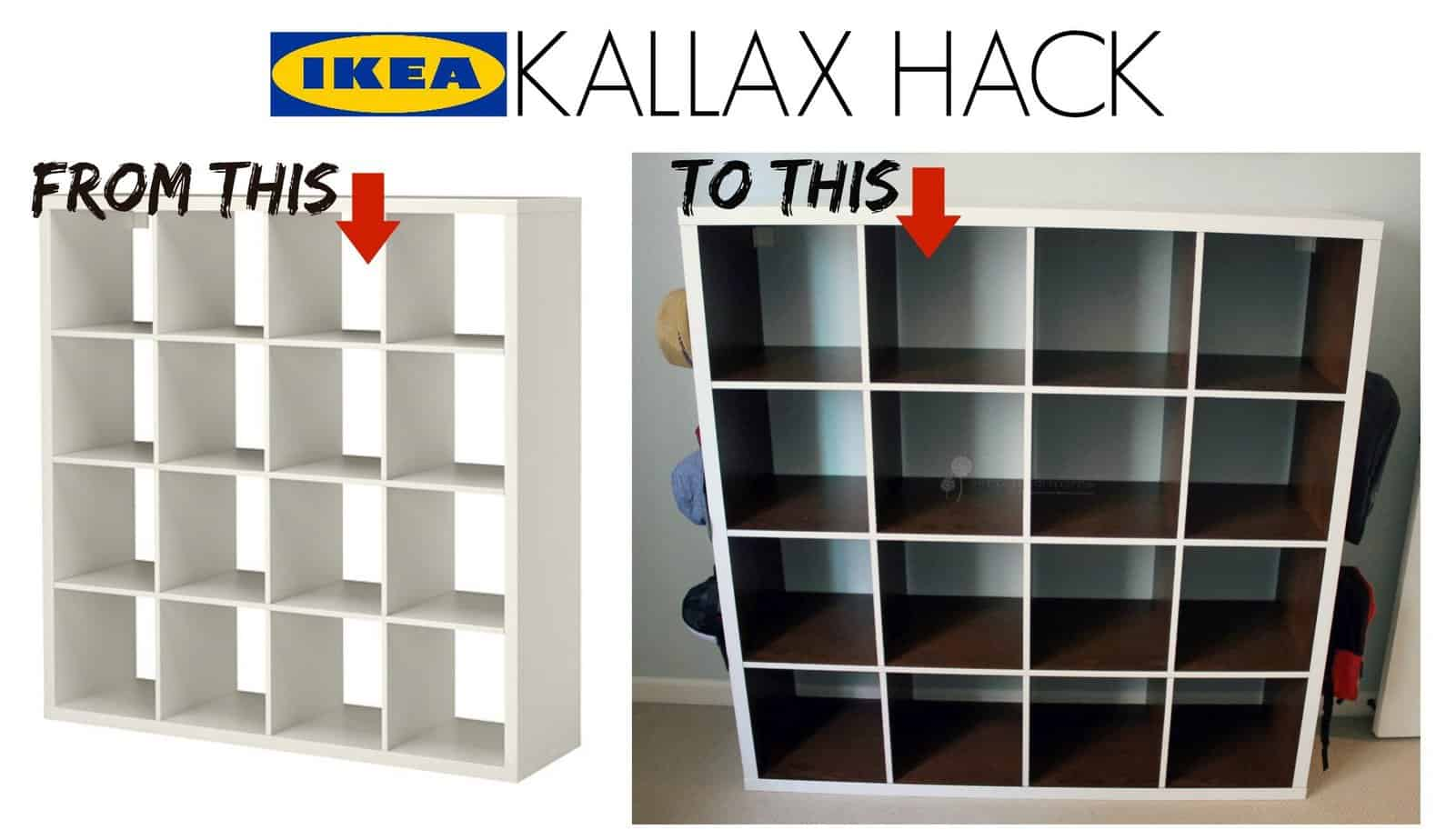 ikea kallax hack simply real moms. Black Bedroom Furniture Sets. Home Design Ideas