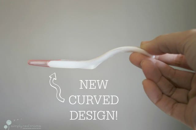 New curved design makes First Response's tests less awkward to use!
