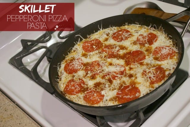 Skillet Pepperoni Pizza Pasta