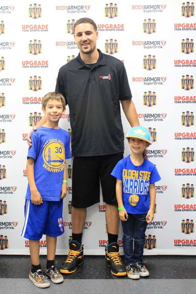 Kids with Klay Thompson