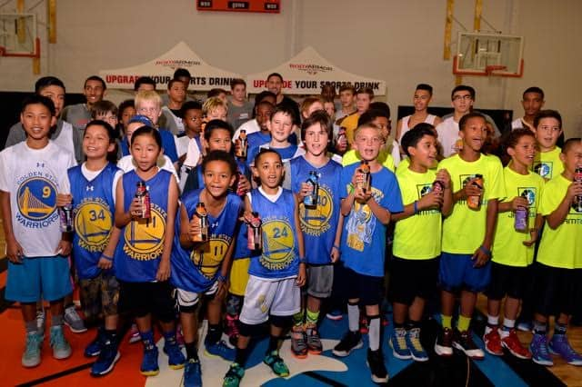 Klay Thompson Supports Youth at Basketball Clinic 2