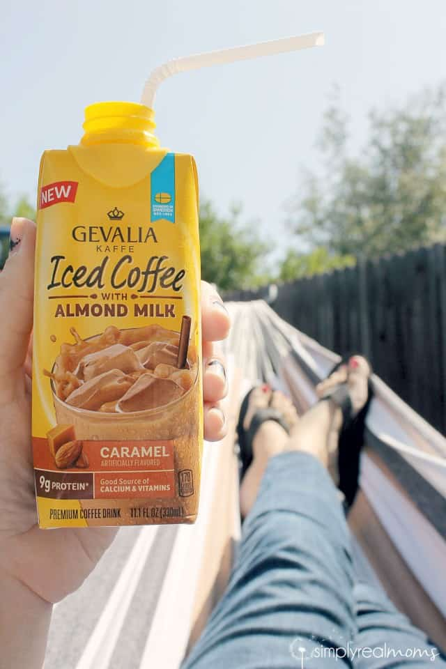 Relaxing with Gevalia Almond Milk Coffee