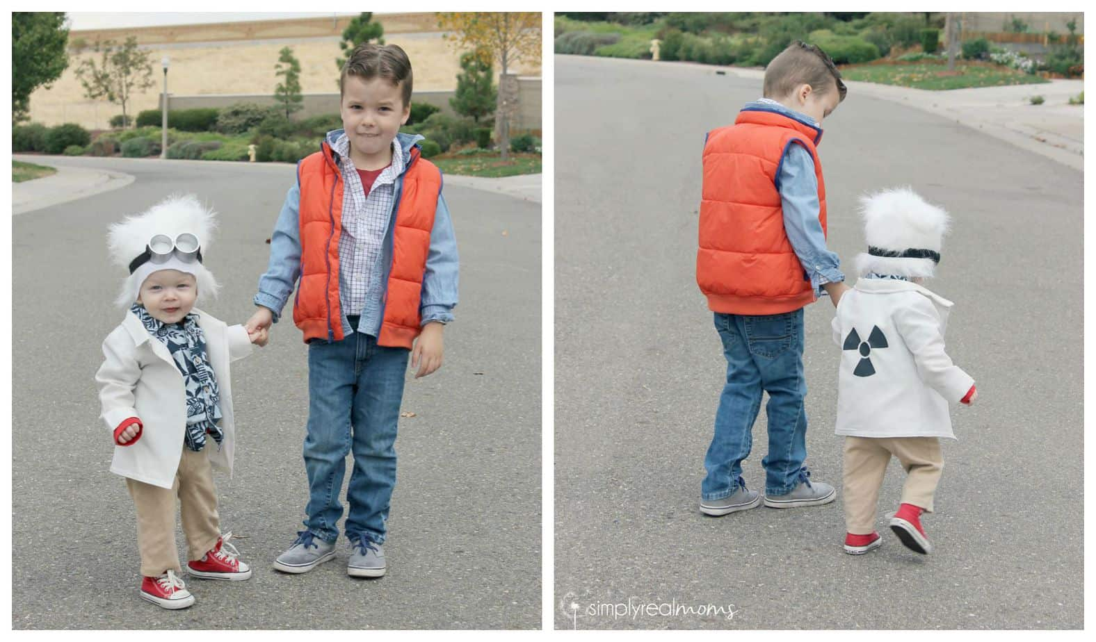diy sibling halloween costume back to the future 3