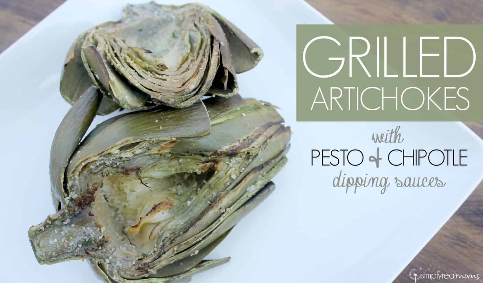Grilled Artichokes with Pesto & Chipotle Dipping Sauces 3