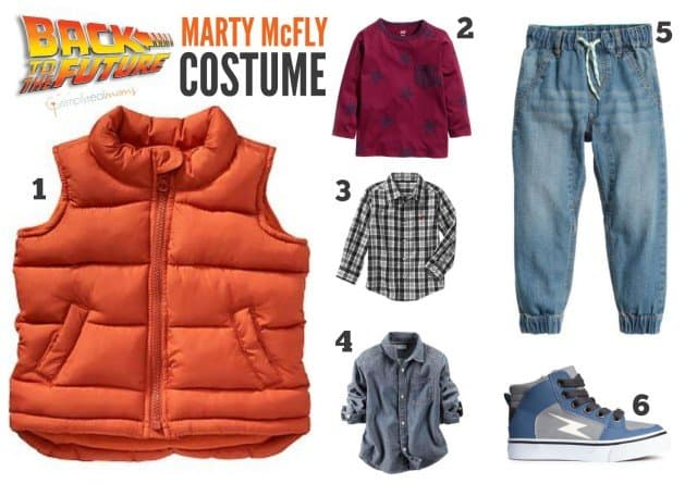 Marty McFly Halloween Costume Button Up Shirt
