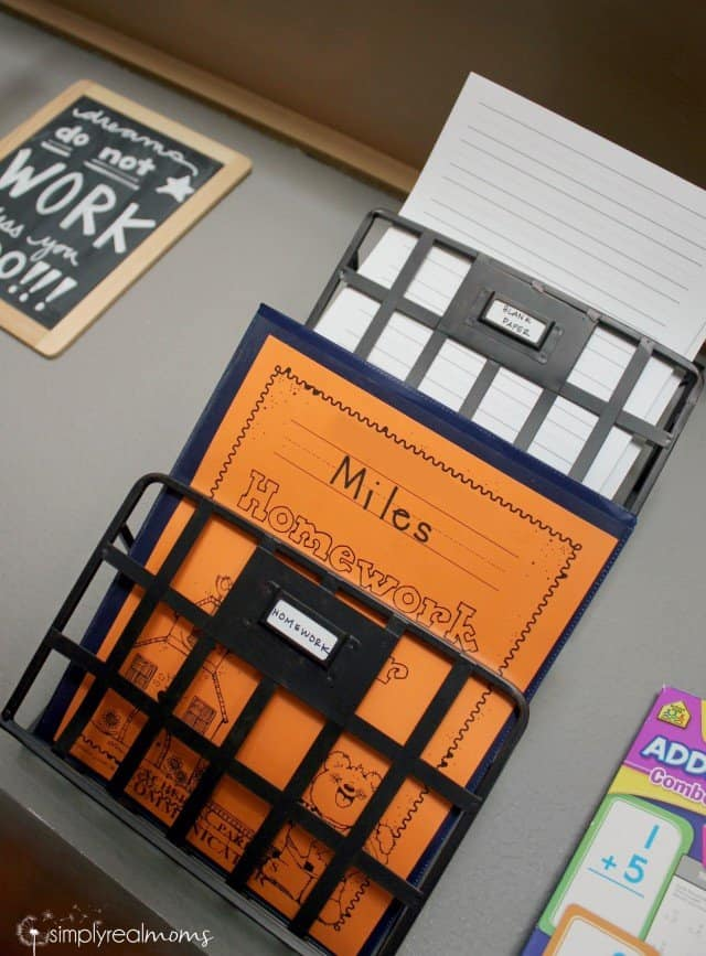 Paper and homework organizer from Kohls