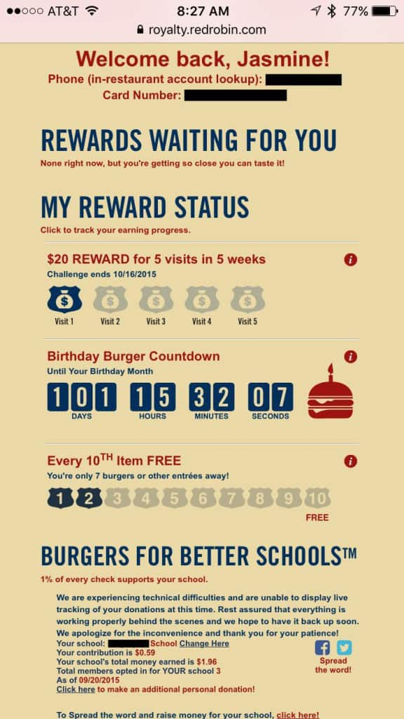 Red Robin Burgers for better schools