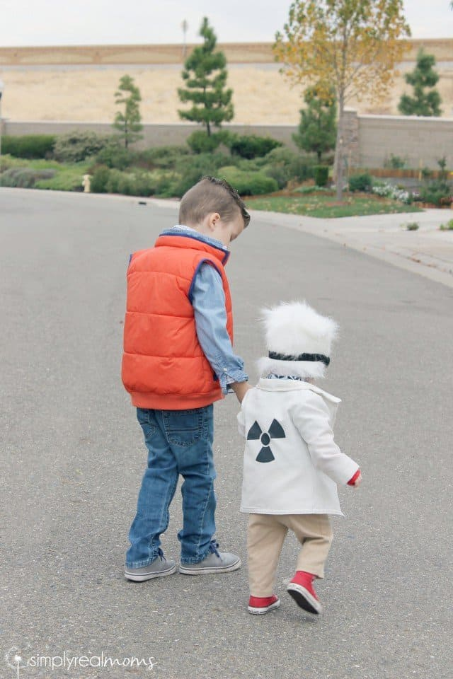 Toddler Brothers Back to the Future Costume