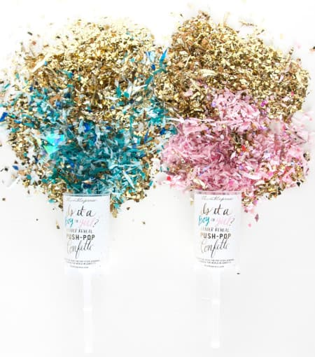 Friday Find: Gender Reveal Push-Pop Confetti 1