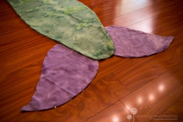 How to make Fleece Mermaid Tail Blankets