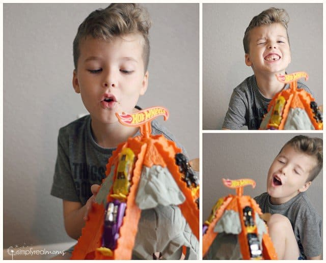 Pretend Play with the Hot Wheels Volcano Blast