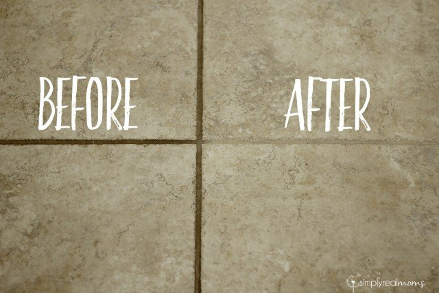 Before & After Grout Tile Cleaning