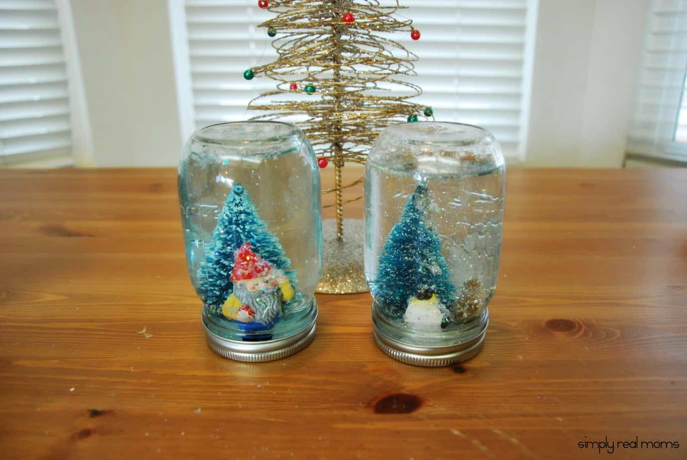 DIY Mason Jar Snow Globes 14