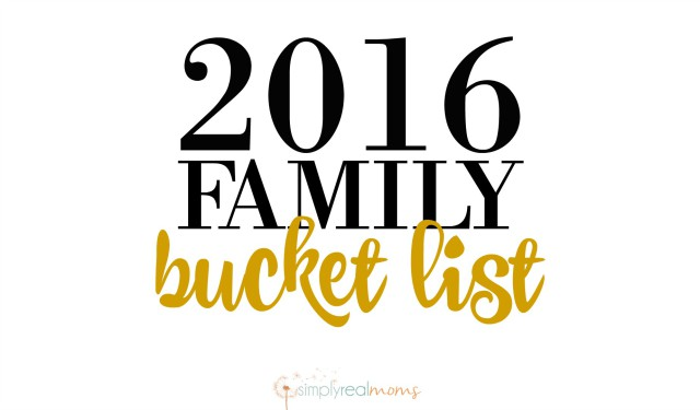 Bucket List For Families 2016