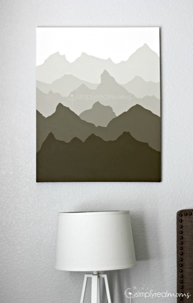 diy canvas art simply made painted mountains wall simply real 12741