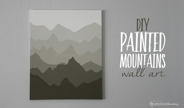 DIY Painted Mountains Wall Art