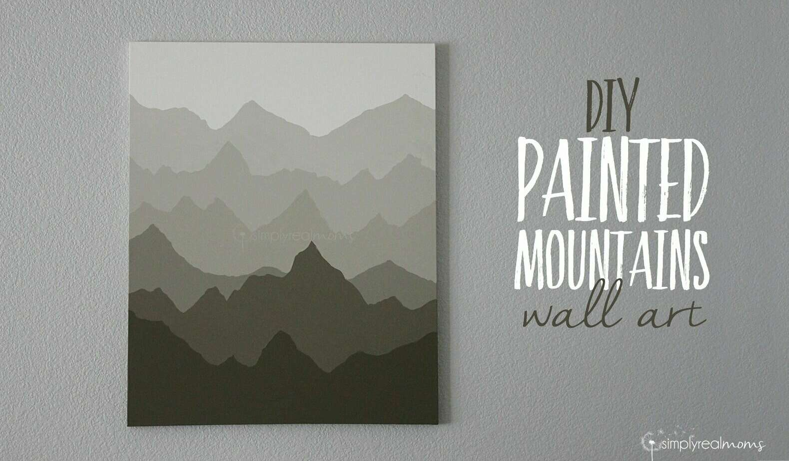 Simply Made: Painted Mountains Wall Art 2