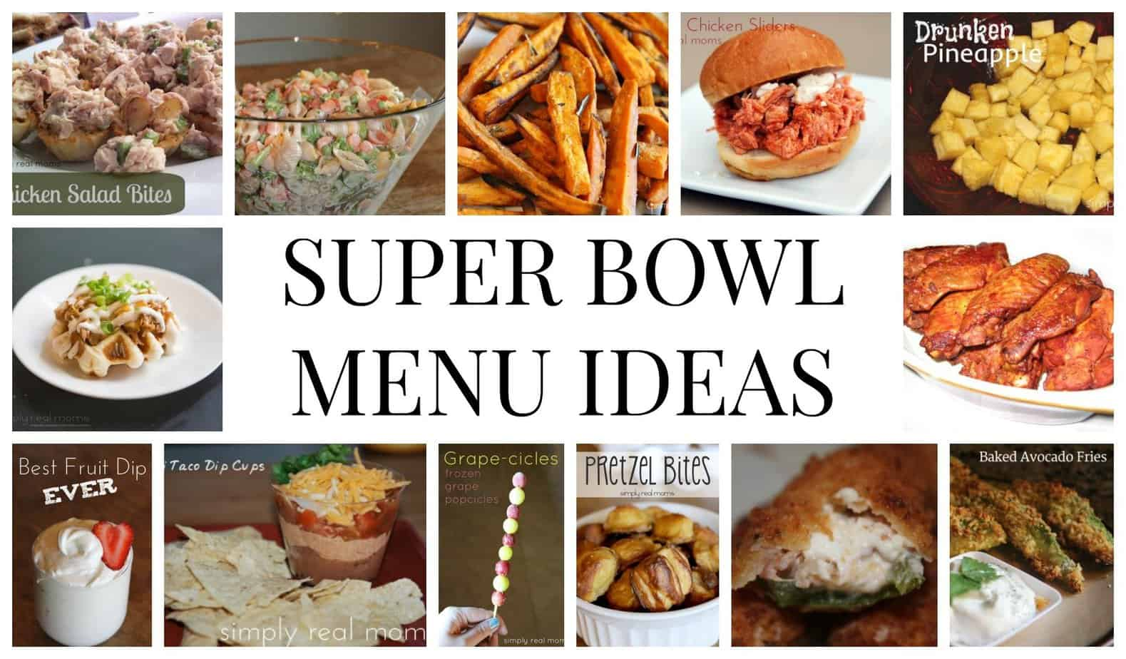 Super Bowl Sunday Menu