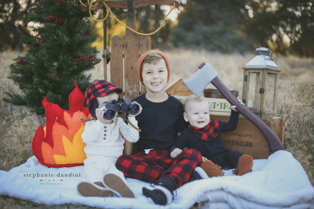 Adorable Lumberjack Photoshoot
