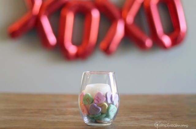 Conversation Heart Candle