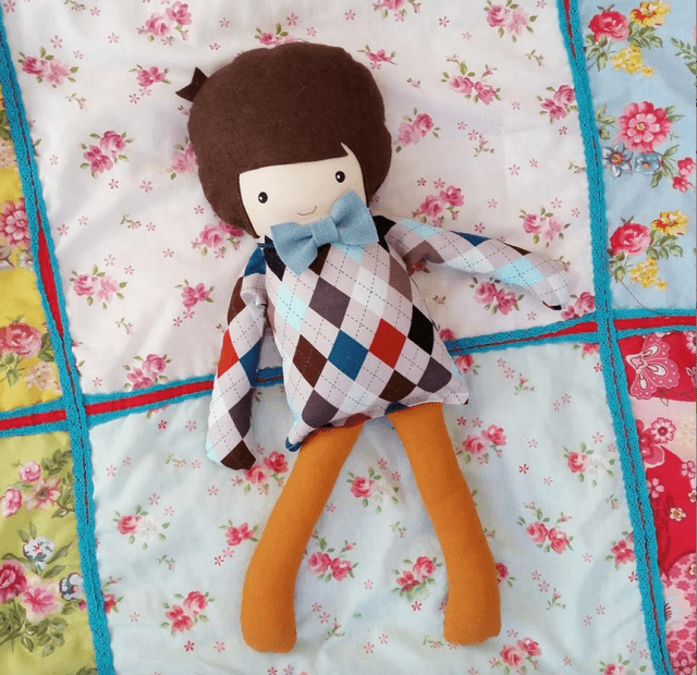 Custom Boy Doll Blue JInk