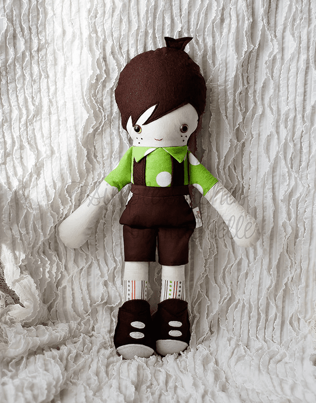 Custom Boy Doll Stitches by Rachelle